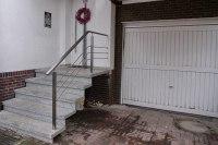 Reling Treppengeländer aus Edelstahl Rechteckrohr