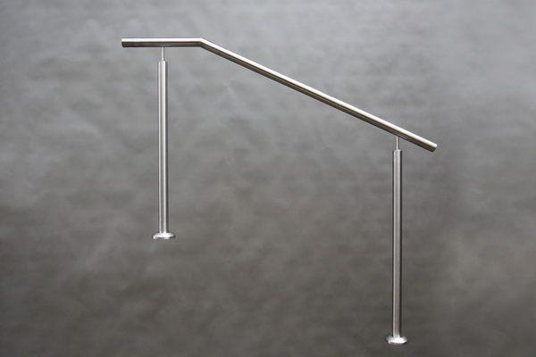 160 cm langes Treppengeländer aus Edelstahl