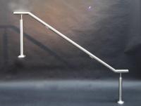 Edelstahlgeländer mit LED-Module für einen gemauerten Sockel