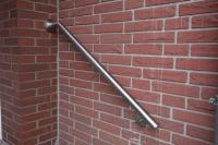 Treppen Handlauf aus Edelstahl, geschliffen mit Korn 240