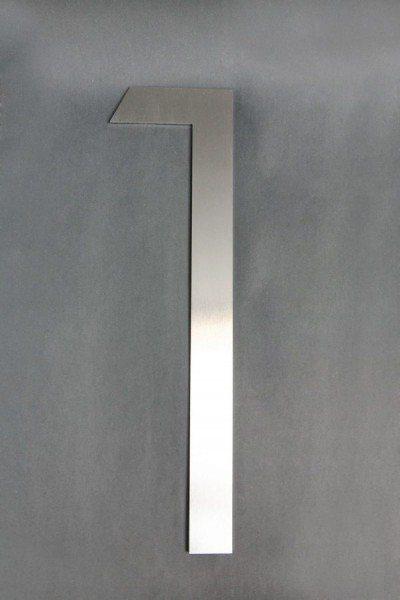40 cm hohe  Edelstahl Hausnummer