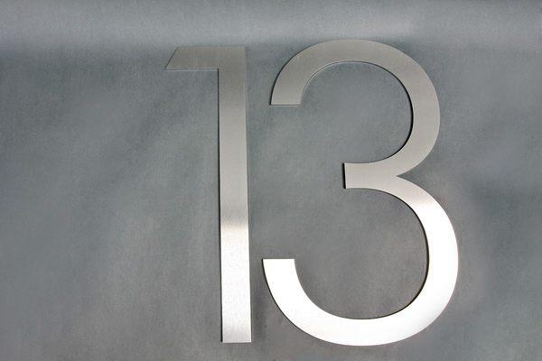 Zweistellige Edelstahl Hausnummer
