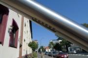 klasse Treppengeländer aus Edelstahl mit in den Handlauf integrierten LED´s