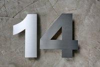 Edelstahl Hausnummern in 3 mm Materialstärke