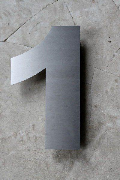Edelstahl Nummer in 3 mm Materialstärke