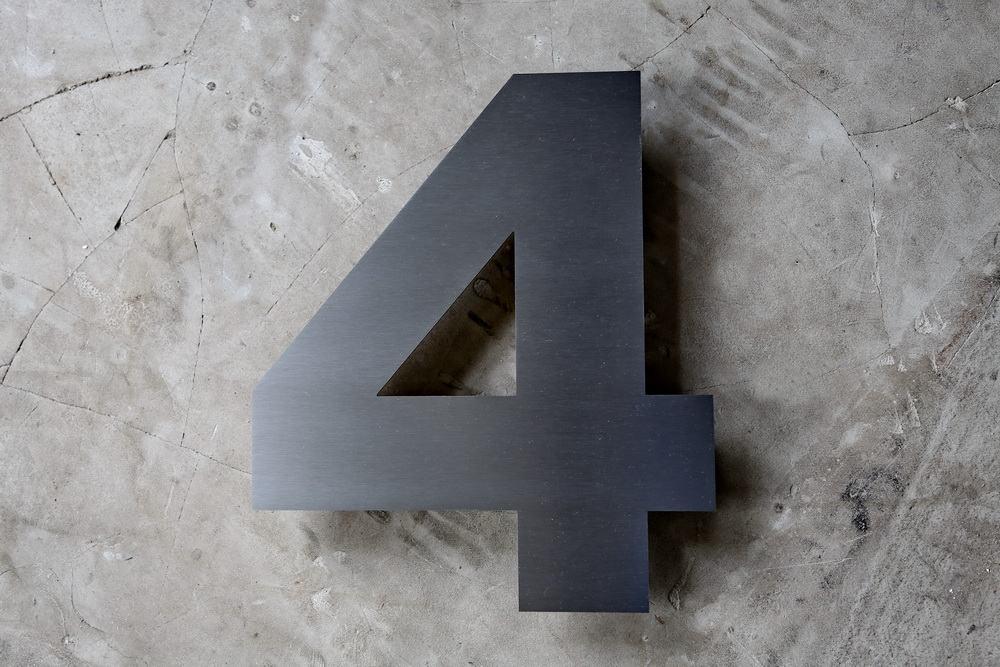 edelstahl hausnummer in 3 mm materialst rke. Black Bedroom Furniture Sets. Home Design Ideas