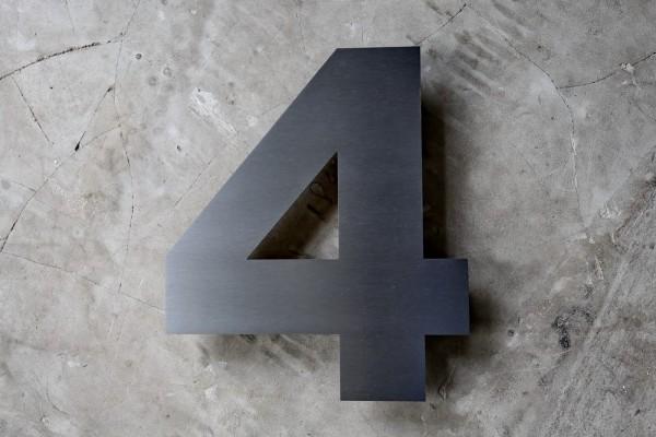Edelstahl Hausnummer in 3 mm Materialstärke