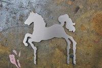 Edelstahlpferd nach einem Kundenentwurf gefertigt