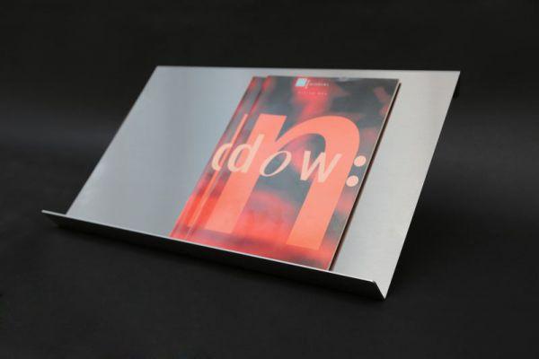 Prospektauslage aus 3mm Edelstahl