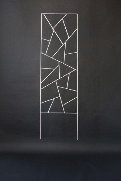 Wunderschönes Rankgitter aus Edelstahl mit Schmitzstruktur