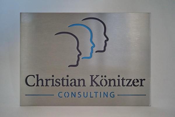Firmenschild für Christian Könitzer Consulting