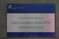 Safety Excellence Award 2011
