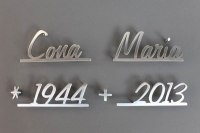 "Schriftzug ""Cona Maria"" aus Edelstahl"