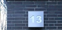 Hausnummer 13 aus Edelstahl