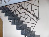 Treppengeländer in Schmitzstruktur