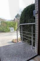 Edelstahl Geländer für eine Aussentreppe