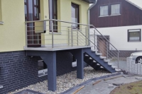schon wieder ein Edelstahl Treppengeländer mit einer Edelstahl Reling