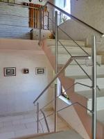 Treppengeländer aus Edelstahl mit 2 Relingstäben