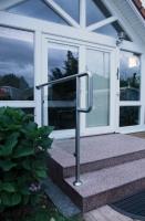 LED Treppengeländer, Edelstahl und Sicherheitsglas mit LED im Handlauf