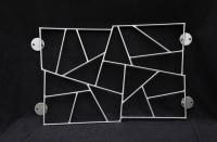5 verschiedene Fenstergitter mit Schmitzstruktur aus Edelstahl