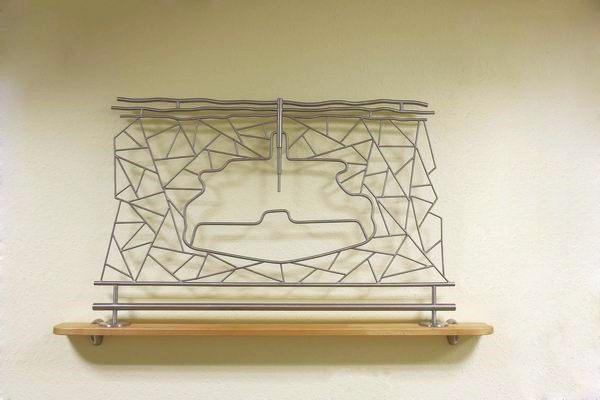 Kavernen Skulptur aus Edelstahl für die Socon Kavernenvermessung GmbH