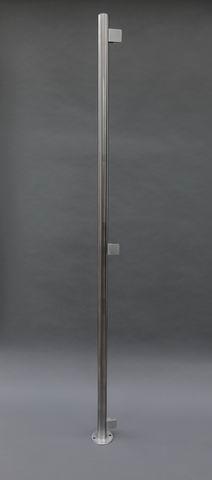 edelstahlpfosten mit glashalter f r einen sichtschutz aus glas. Black Bedroom Furniture Sets. Home Design Ideas