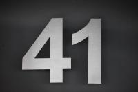 Hausnummer 41 aus 3 mm Edelstahl