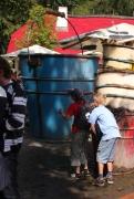 Mullewapp Eimer mit einem Wasserspiel im Zoo Hannover