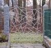 Gartenpforte mit Schmitzstruktur aus Edelstahl
