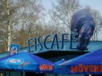 Schild Eiscafe für den Zoo Hannover