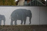 Elefanten aus 3 mm Stahlblech, feuerverzinkt