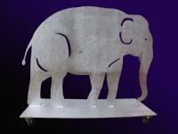 Elefant auf einem rollbaren Sockel - ausgelasert und feuerverzinkt