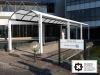 Entwurf eines Vordach für eine bestehende Stahlkonstruktion