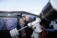 Nach mehreren Anläufen hat es nun heute endlich geklappt. Familie Dr. Andreas zu Gast in unserer Sternwarte.