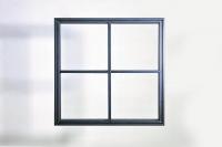 Fenster im Industrie Look aus Stahl und Glas