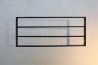 Fenstergitter aus  40x10mm Flachstahl