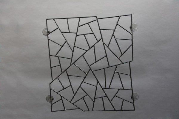 """Stilvolles Fenstergitter mit """"Schmitzstruktur"""""""