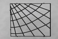 Fenstergitter aus Stahl als Spinnennetz