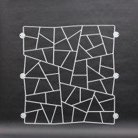lackiertes Fenstergitter in Schmitzstruktur