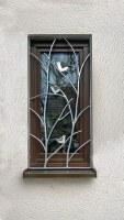 Fenstergitter aus feuerverzinktem Stahl mit Vogel Dekorationen