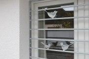 Fenstergitterr mit Vögeln aus feuerverzinktem Stahl