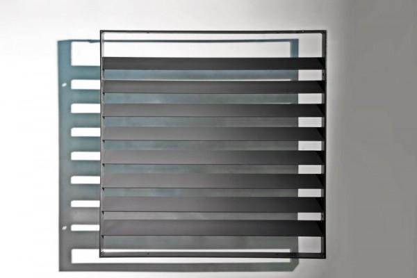 Lamellengitter aus feuerverzinktem Stahl, lackiert