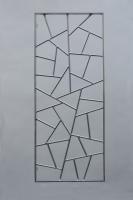 Fenstergitter aus Stahl mit Schmitzstruktur feuerverzinkt