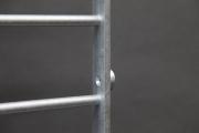 Fenstergitter aus feuerverzinktem Stahl gegen Einbrecher