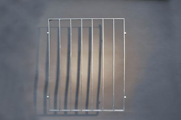 Gitter aus 40 x 8 mm feuerverzinktem Flachstahl