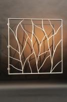 geschmiedetes Fenstergitter aus feuerverzinktem Stahl