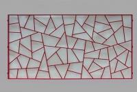Fenstergitter mit Schmitzstruktur in rot lackiert