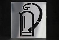 Feuerlöscher Piktogramm aus Edelstahl