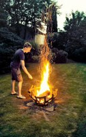 Feuerkorb aus Flachstahl
