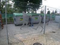 Neue Blechskulpturen für einen Gittermatten Zaun für das Stadtbad in Peine